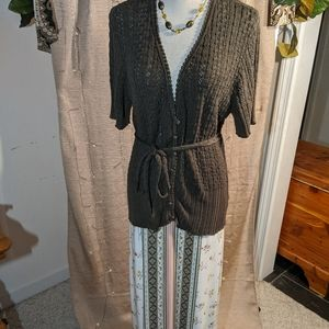 Nine West sweater, NWT Cato skirt, necklace